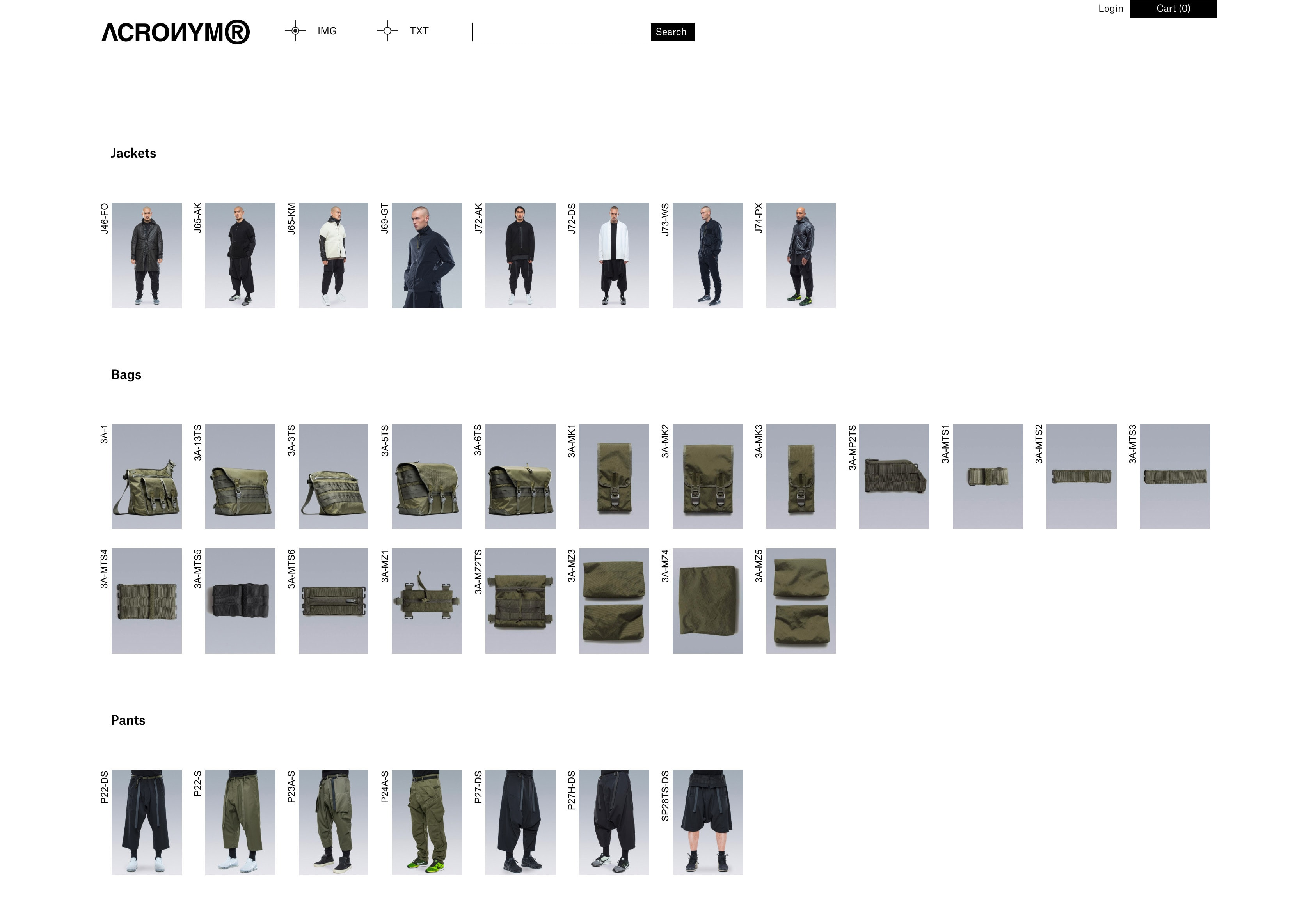 WAF GMBH – Product database and online store for ACRONYM®